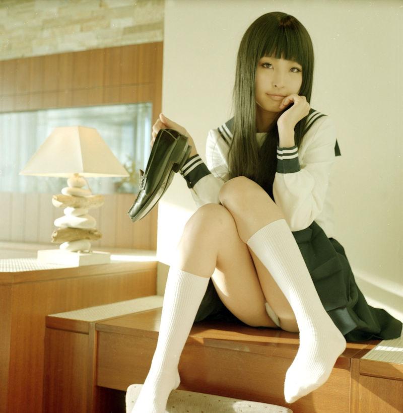 JK 靴下 白 スクールソックス エロ画像【24】