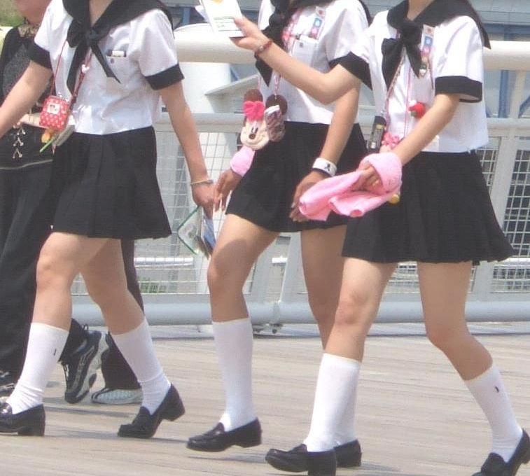 JK 靴下 白 スクールソックス エロ画像【28】