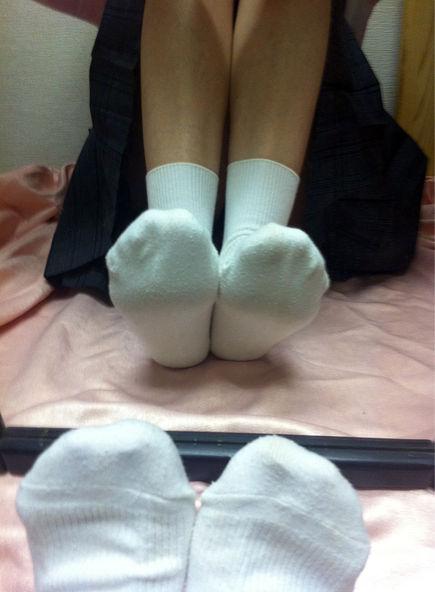 JK 靴下 白 スクールソックス エロ画像【32】