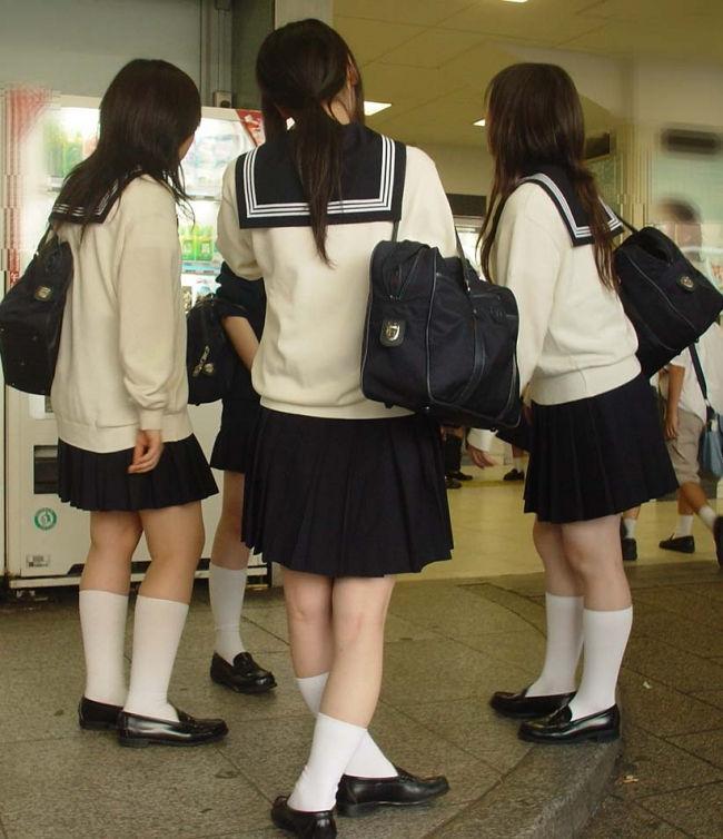 JK 靴下 白 スクールソックス エロ画像【33】