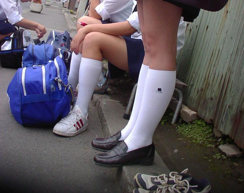 JK 靴下 白 スクールソックス エロ画像【37】