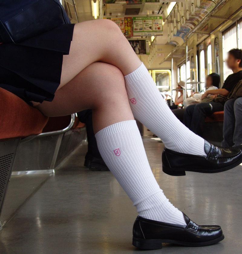JK 靴下 白 スクールソックス エロ画像【52】