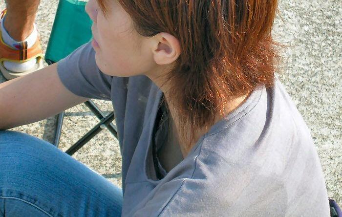 胸チラ ブラ 裏側 ブラジャー エロ画像【27】