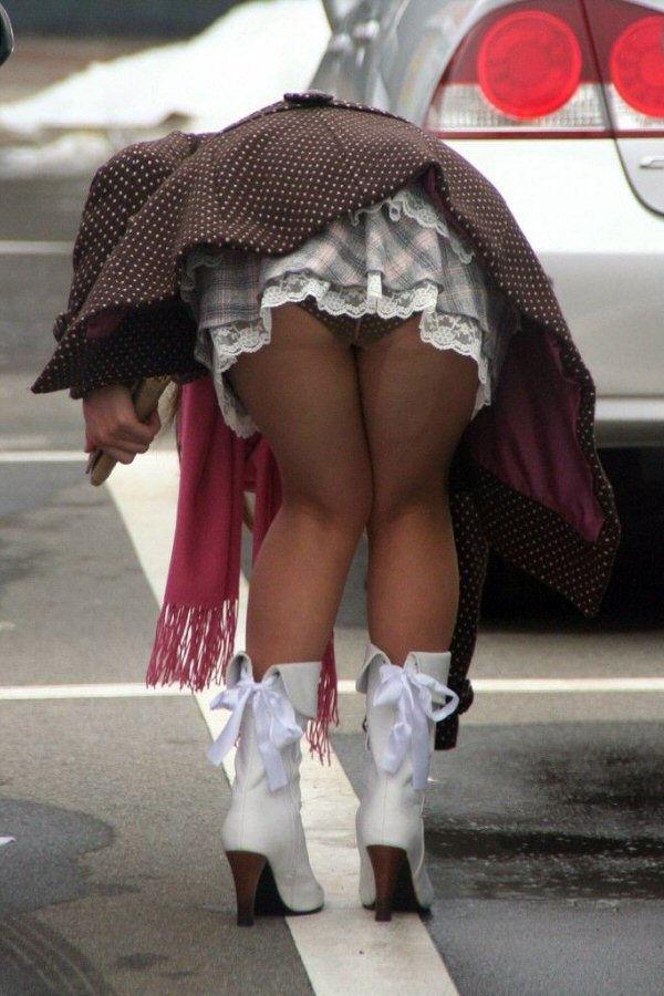 ティアード スカート ふりふり フリル パンチラ エロ画像【40】