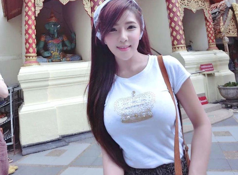 おっぱい大きいタイ人美女の着衣巨乳エロ画像