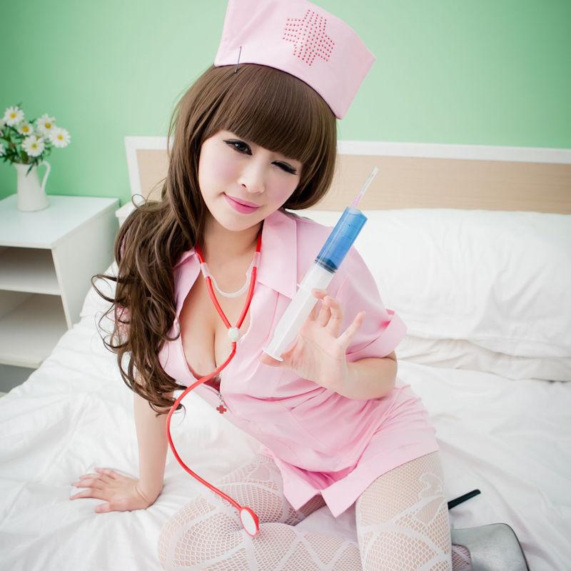 ナース服 パツパツ 着衣 巨乳 看護師 エロ画像【19】