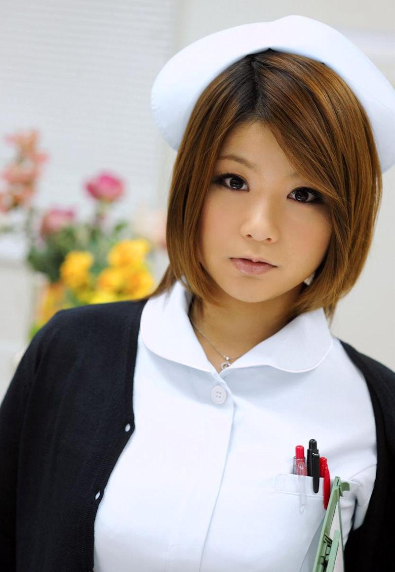 ナース服 パツパツ 着衣 巨乳 看護師 エロ画像【23】