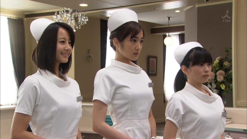 ナース服 パツパツ 着衣 巨乳 看護師 エロ画像【33】