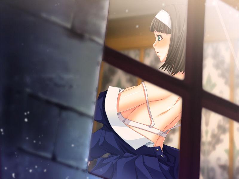 窓の外 着替え 覗く 窓越し 脱衣 二次元 エロ画像【11】
