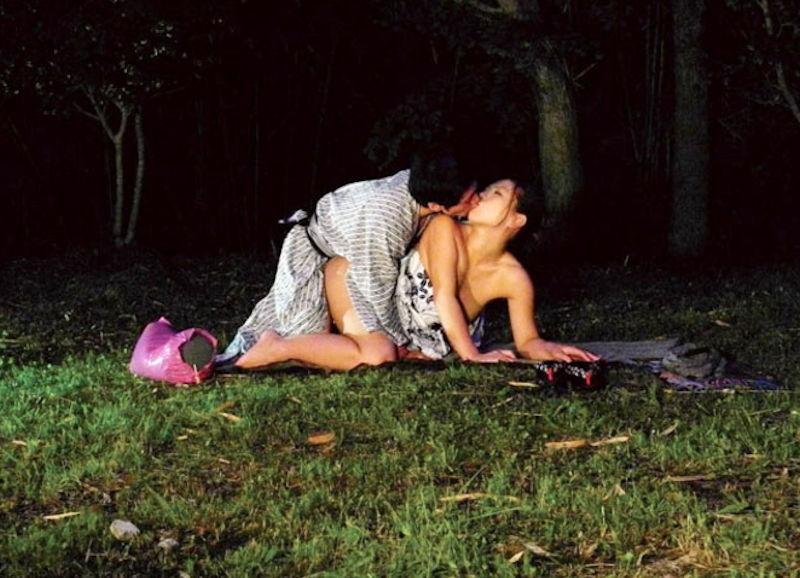 夏祭りの後は浴衣で野外セックス・野外フェラのエロ画像