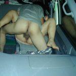 カーセックスの車内盗撮ドタバタ画像
