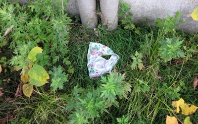 地面にブラやパンツが落ちてる不審な下着のエロ画像 ④