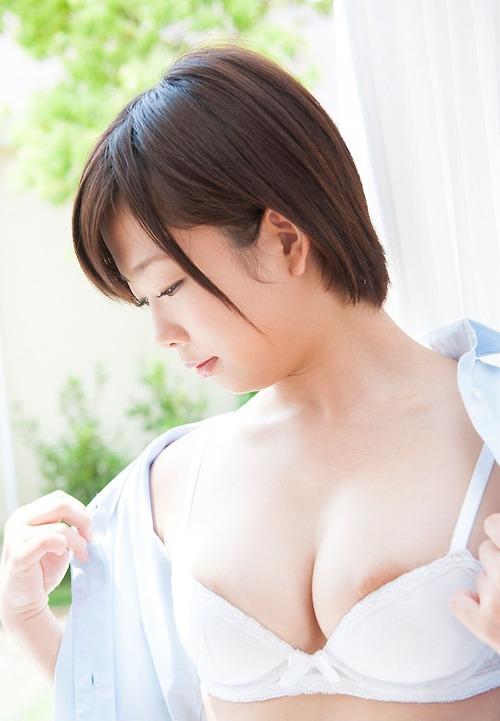 デカ乳輪 ブラ ポロリ 下着 はみ出し 巨乳輪 エロ画像【2】