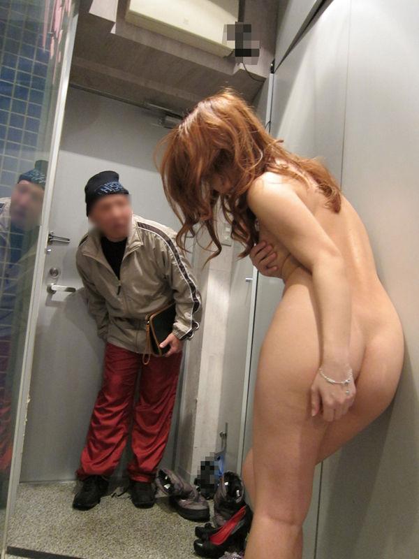 男の前 裸 ジロジロ 見みられる 羞恥 ヌード エロ画像【15】