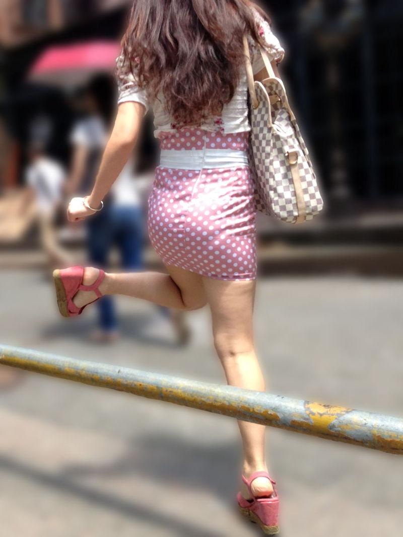 ミニスカ ギャル 街撮り 太もも エロ画像【36】