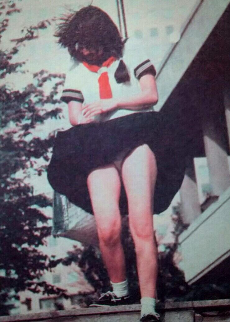 昭和 70年代 80年代 昔 JK パンチラ エロ画像【15】
