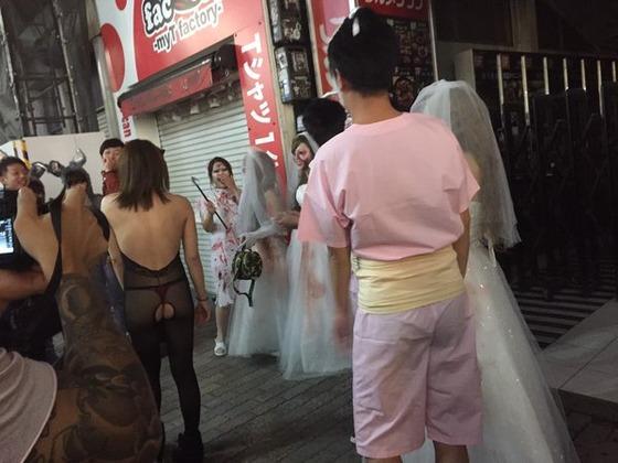 ハロウィン 街撮り コスプレ ギャル エロ画像【9】