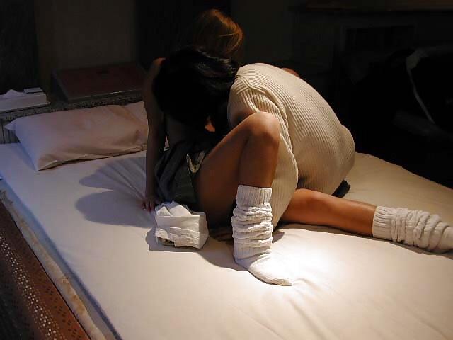ラブホ JK セックス 女子校生コス ハメ撮り エロ画像【33】