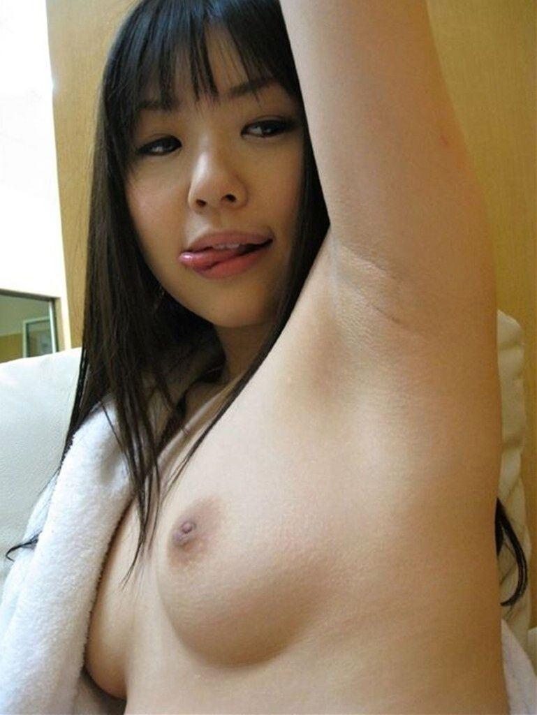 ワキ 自撮り 脇 フェチ エロ画像【36】