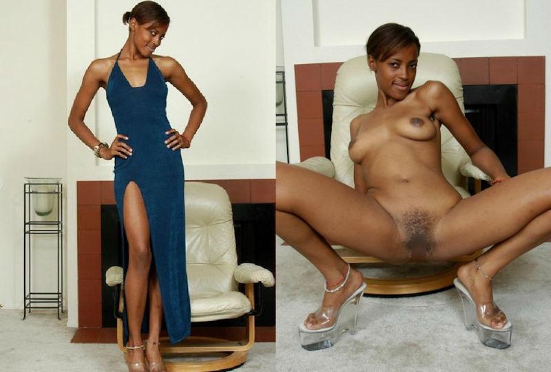 黒人女性 ヌード 比較 着衣 脱衣 エロ画像【4】