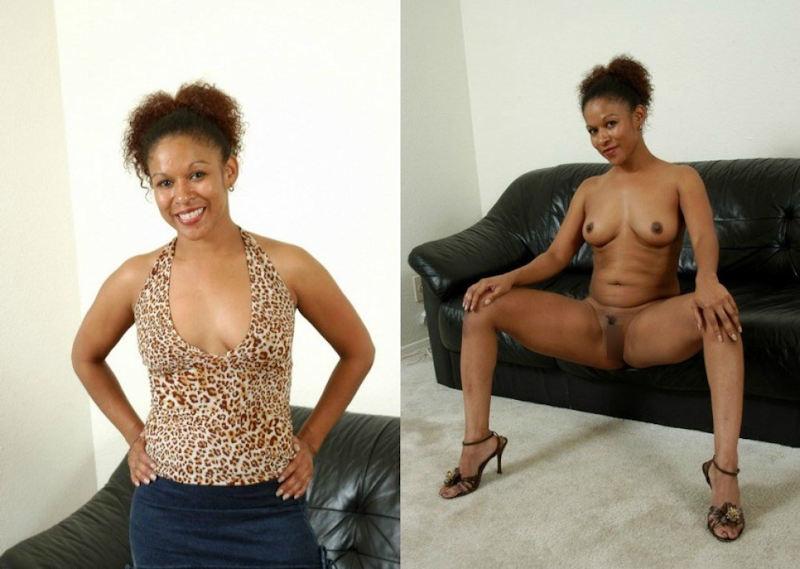 黒人女性 ヌード 比較 着衣 脱衣 エロ画像【8】