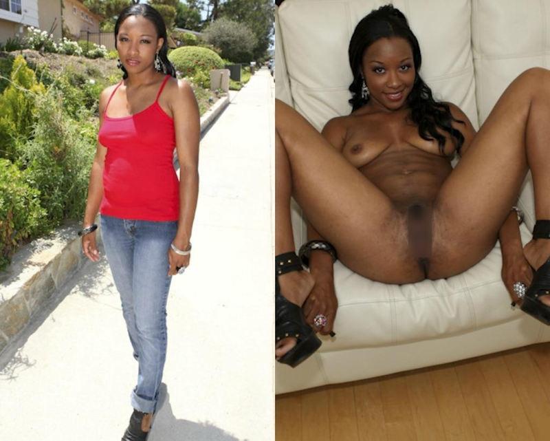 黒人女性 ヌード 比較 着衣 脱衣 エロ画像【23】