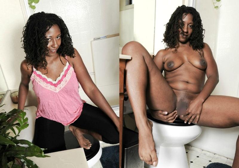 黒人女性 ヌード 比較 着衣 脱衣 エロ画像【31】