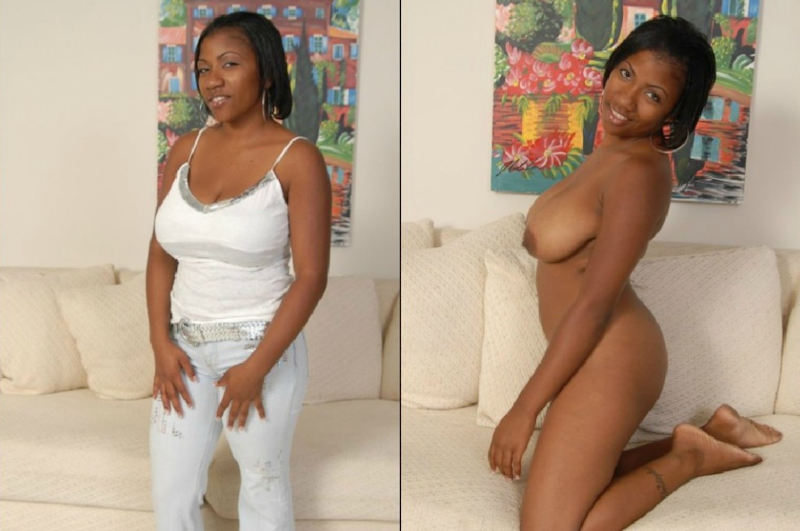 黒人女性 ヌード 比較 着衣 脱衣 エロ画像【43】