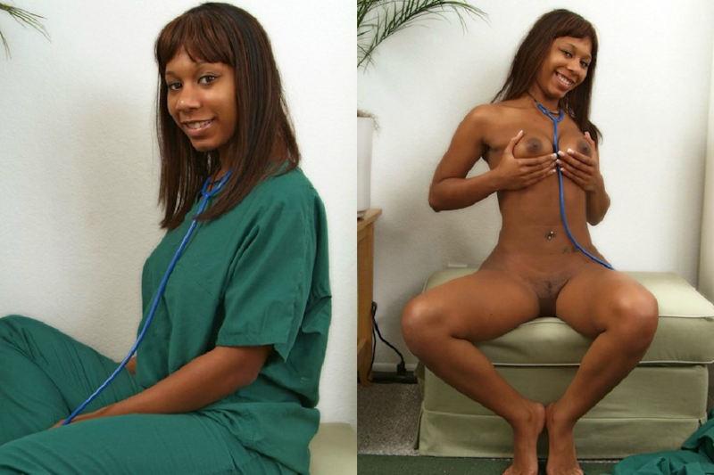 黒人女性 ヌード 比較 着衣 脱衣 エロ画像【44】