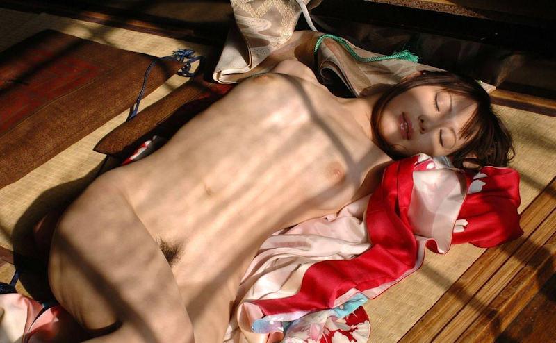 畳 全裸 和室 ヌード エロ画像【31】