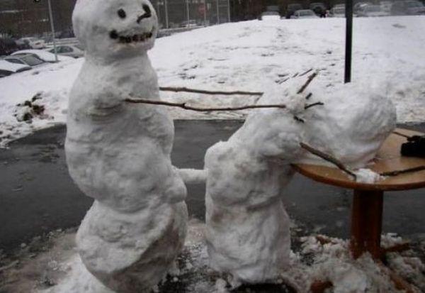 雪だるま エッチ おふざけ 海外 エロ画像【19】