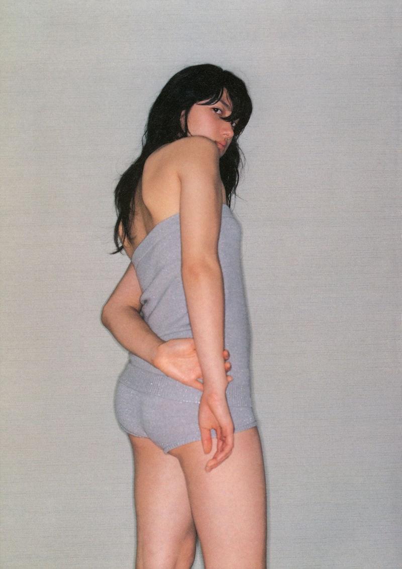 地味 可愛い グレー 下着 美女 エロ画像【13】