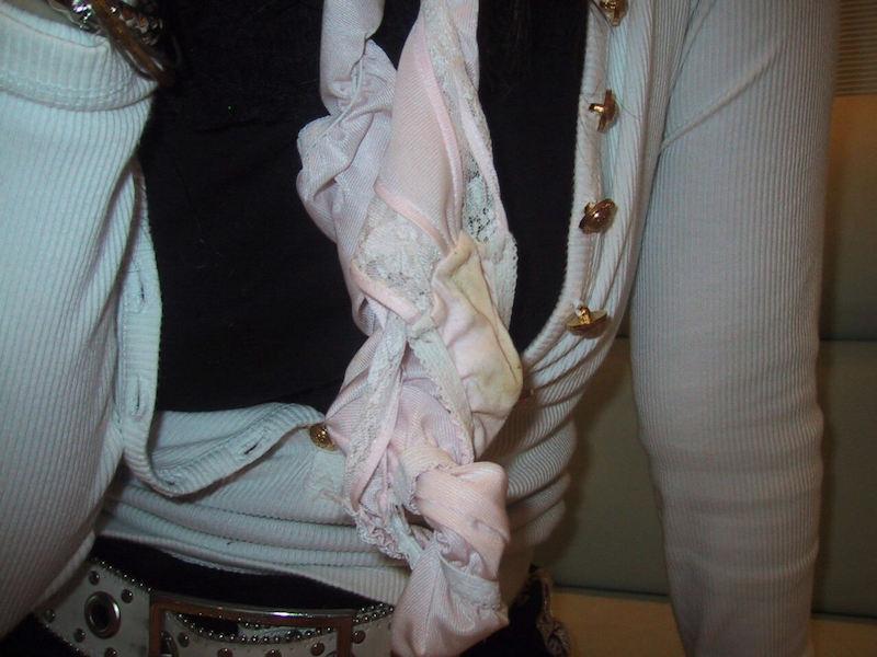 パンツのシミ 見せる 脱ぎたて 染みパン エロ画像【22】
