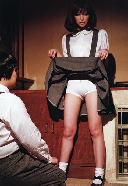 スカート たくし上げ パンツ見せ 恥ずかしがる エロ画像【35】