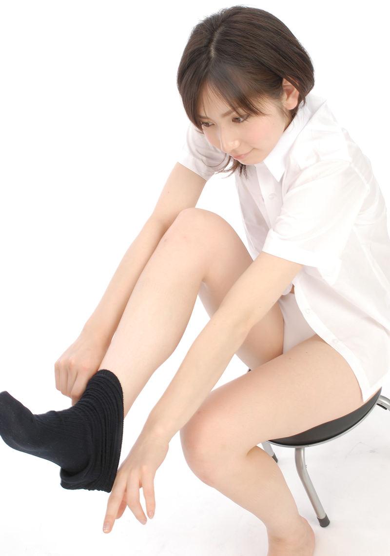 白シャツ Yシャツ パンチラ パンモロ エロ画像【5】