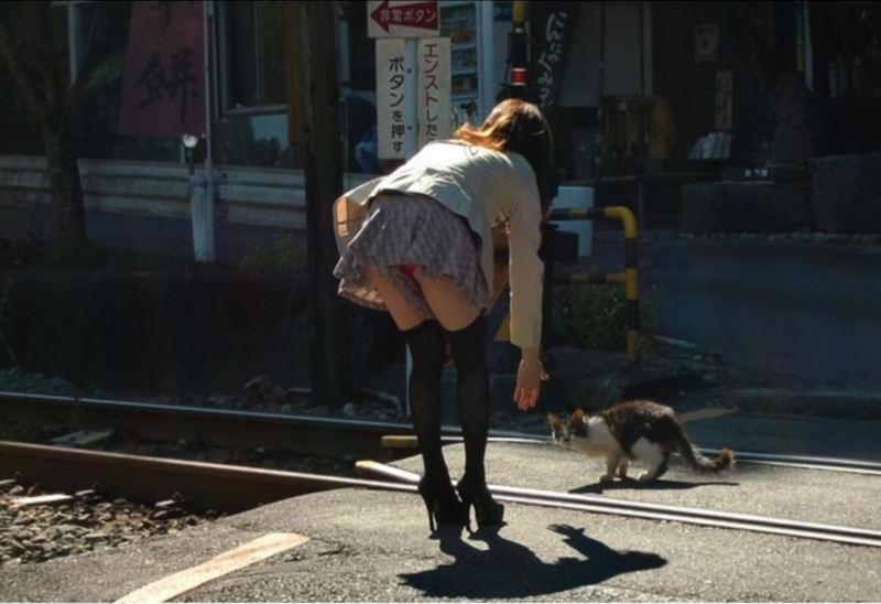 ひらひら フレアスカート パンチラ エロ画像【40】