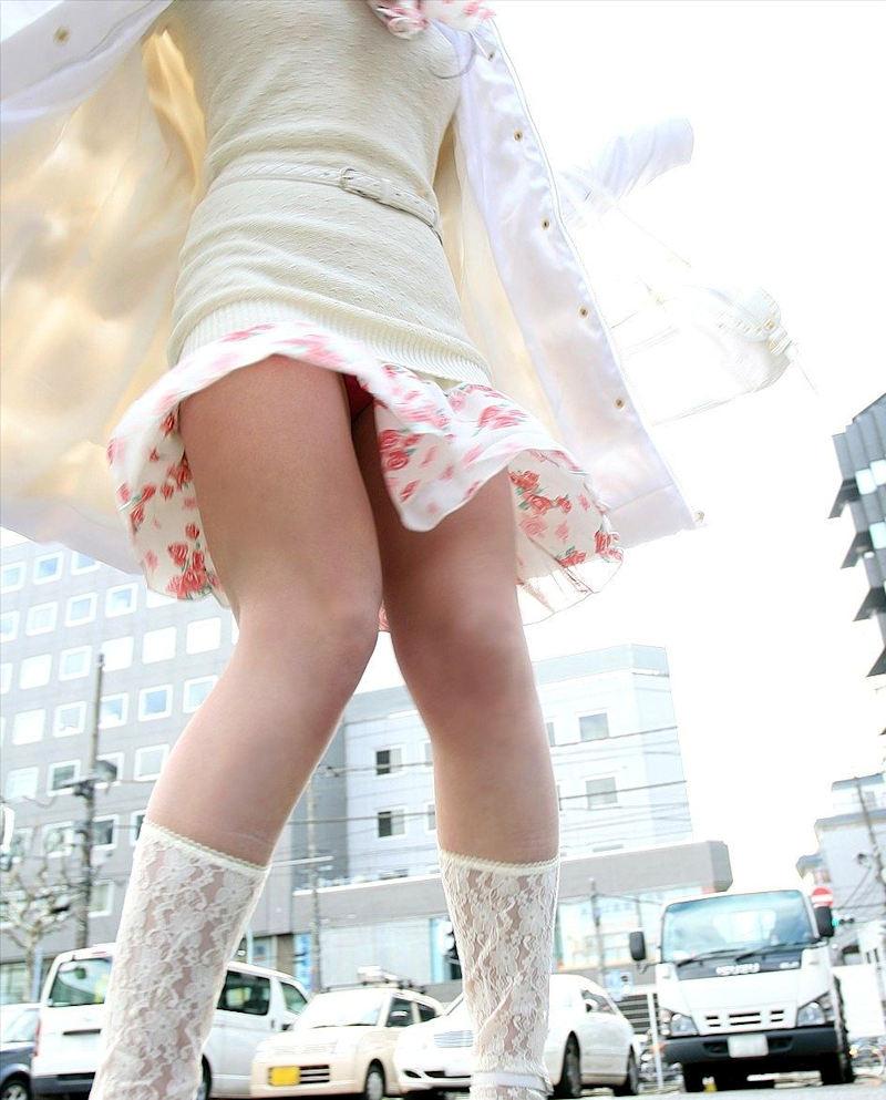 ひらひら フレアスカート パンチラ エロ画像【56】