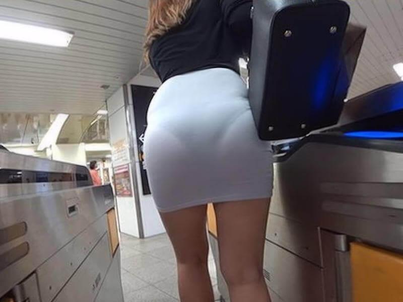 ミニスカ 透けパン エロ画像