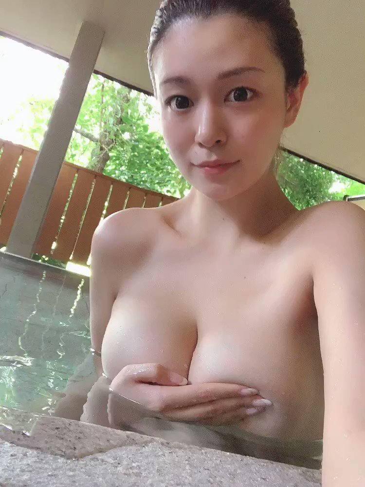温泉 自撮り 全裸 性癖エロ画像 センギリ -